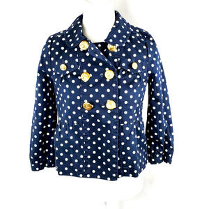 Juicy Couture Polka Dot Cropped Jacket S
